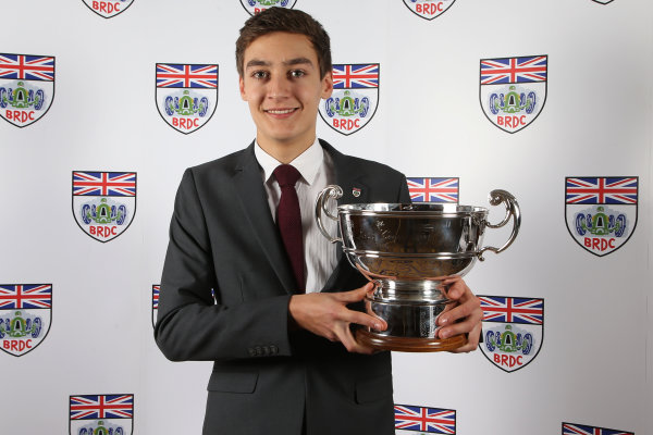 2015 British Racing Drivers Club Awards Grand Connaught Rooms, London Monday 7th December 2015 George Russell. World Copyright: Jakob Ebrey/LAT Photographic ref: Digital Image Rusell-01