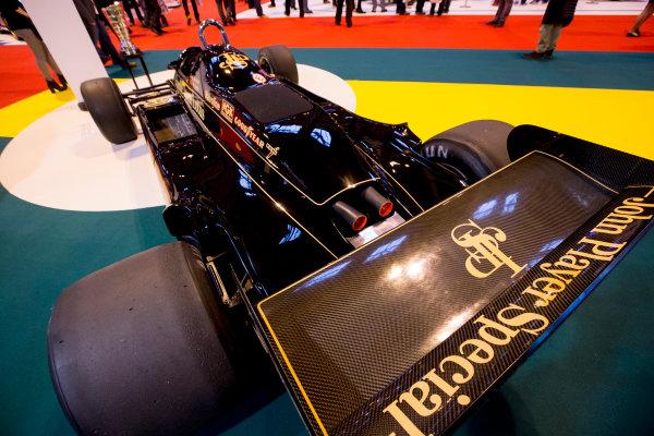 Autosport International Exhibition.  National Exhibition Centre, Birmingham, UK. Thursday 14 January 2016.  The Team Lotus stand. World Copyright: Zak Mauger/LAT Photographic. ref: Digital Image _L0U1277