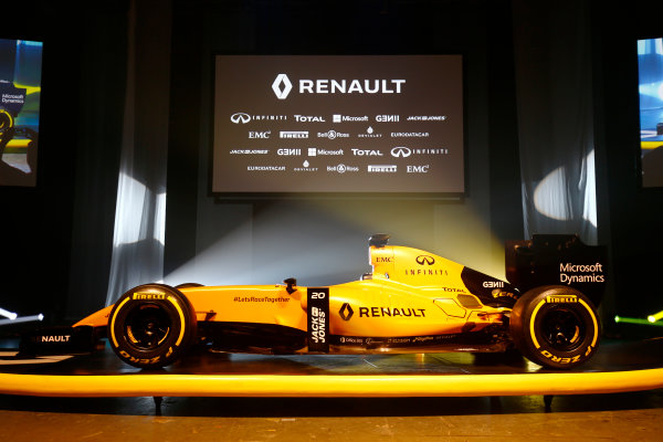 Albert Park, Melbourne, Australia. Wednesday 16 March 2016. The Renault RS16 in its new livery. World Copyright: Andy Hone/LAT Photographic ref: Digital Image _ONY9878