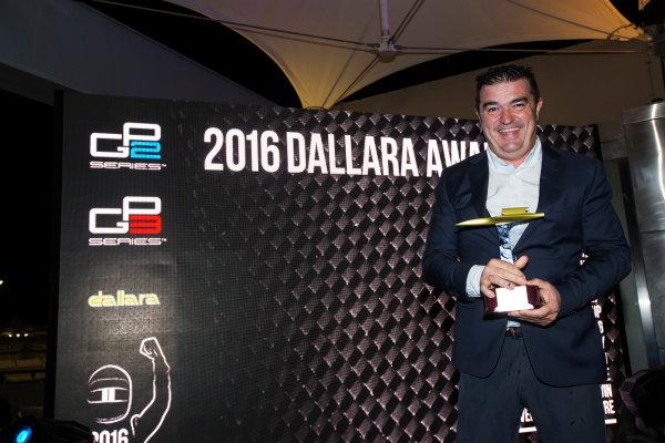 2016 GP2/3 Awards Evening. Yas Marina Circuit, Abu Dhabi, United Arab Emirates. Sunday 27 November 2016. Campos Racing Photo: Sam Bloxham/GP2 Series Media Service/GP3 Series Media Service. ref: Digital Image _SLA9807