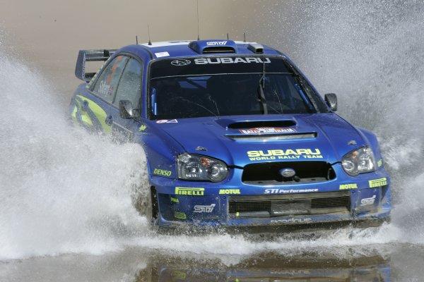 2005 FIA World Rally Champs. Round Sixteen, Rally Australia.10th - 13th November 2004.Petter Solberg, Subaru, action.World Copyright: McKlein/LAT