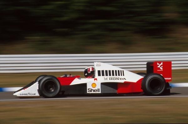Gerhard Berger(AUT), McLaren MP4-5B, 3rd place German GP, Hockenheim, Germany, 29 July 1990