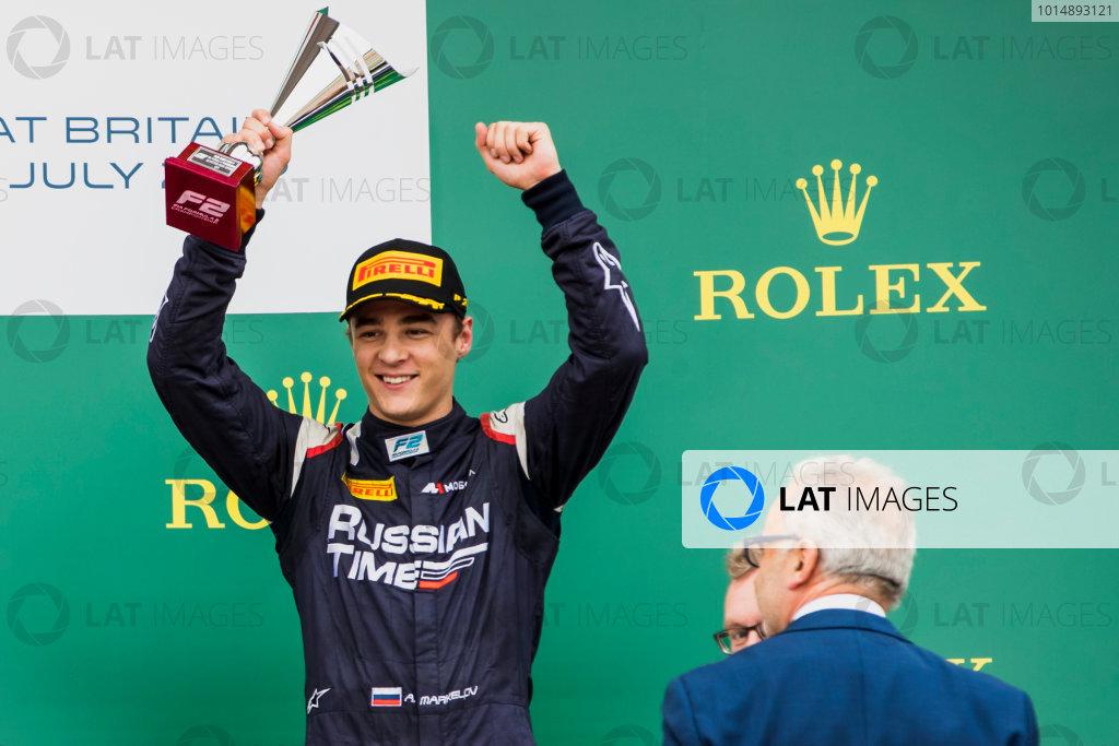 2017 FIA Formula 2 Round 6. Silverstone, Northamptonshire, UK. Sunday 16 July 2017. Artem Markelov (RUS, RUSSIAN TIME).  Photo: Zak Mauger/FIA Formula 2. ref: Digital Image _56I0775