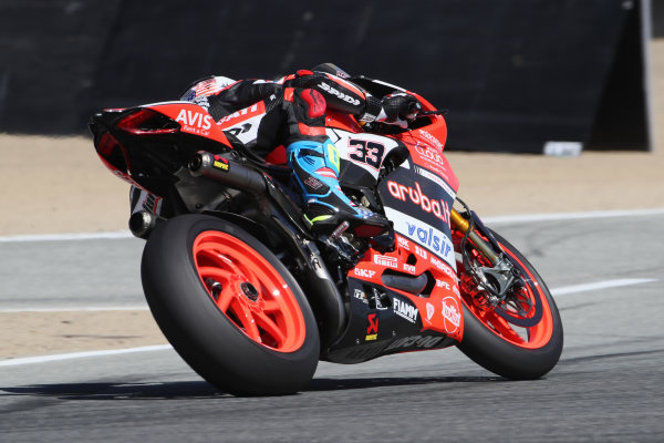 2017 Superbike World Championship - Round 8 Laguna Seca, USA. Friday 7 July 2017 Marco Melandri, Ducati Team World Copyright: Gold and Goose/LAT Images ref: Digital Image 682944