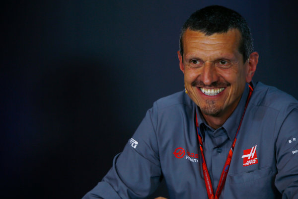 Red Bull Ring, Spielberg, Austria. Friday 07 July 2017. Guenther Steiner, Team Principal, Haas F1, in the team principals Press Conference. World Copyright: Andy Hone/LAT Images ref: Digital Image _ONY0067