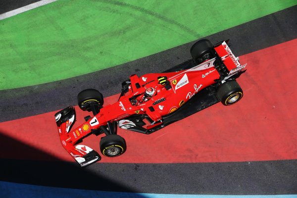 Baku City Circuit, Baku, Azerbaijan. Friday 23 June 2017. Kimi Raikkonen, Ferrari SF70H, drives down an escape road in FP1. World Copyright: Charles Coates/LAT Images ref: Digital Image DJ5R2871