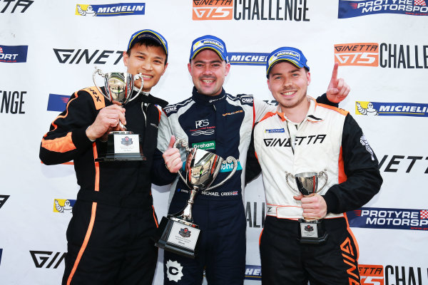 2017 Ginetta GRDC Championship Rockingham, England. 29th-30th April 2017, Podium World copyright. JEP/LAT Images