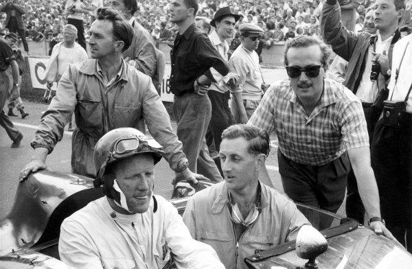 Le Mans 24 hours.Cliff Allison (left) and Colin Chapman.World Copyright: LAT Photographic