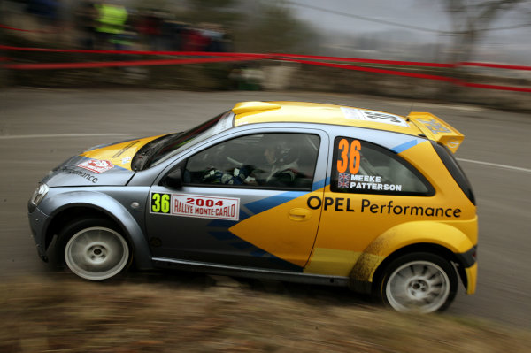 2004 FIA World Rally Champs. Round one, Monte Carlo Rally.22nd-25th January 2004.Kris Meeke, Opel, Action.World Copyright: McKlein/LAT