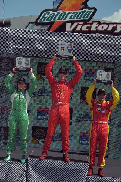 6-7 September, 2008, Joliet, Illinois USARaphael Matos third place, Ana Beatriz second and winner Arie Luyendyk Jr.©2008, Dan Boyd, USALAT Photographic