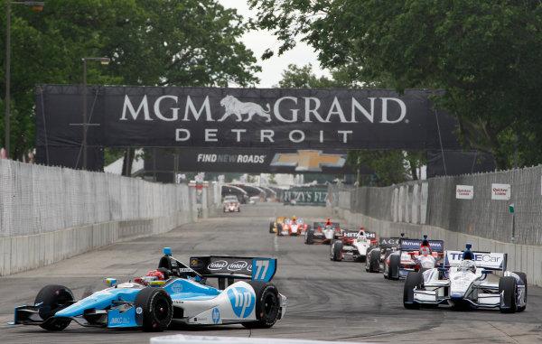 2 June, 2013, Detroit, Michigan, USA Winner Simon Pagenaud  leads ©2013, Todd Davis LAT Photo USA