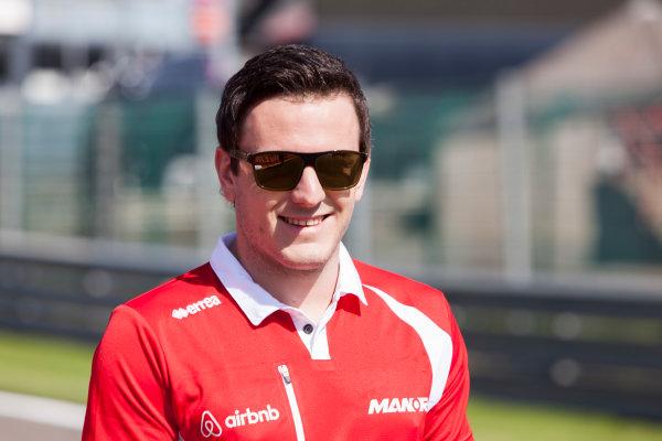 Spa-Francorchamps, Spa, Belgium. Thursday 20 August 2015. Fabio Leimer, Reserve Driver, Manor F1, walks the track. World Copyright: Zak Mauger/LAT Photographic ref: Digital Image _MG_1187