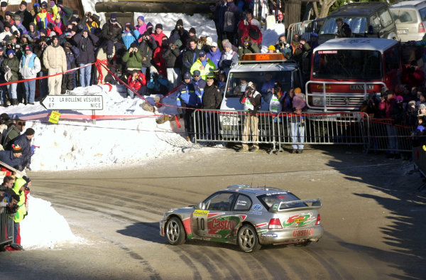 2001 World Rally Championship. Monte Carlo Rally,  Monaco. 18th -21st January 2001. Rd 1. Alister McRae crosses the Col de Turini. World Copyright: Ralph Hardwick/ LAT Photographic. Ref: AMcRae1A
