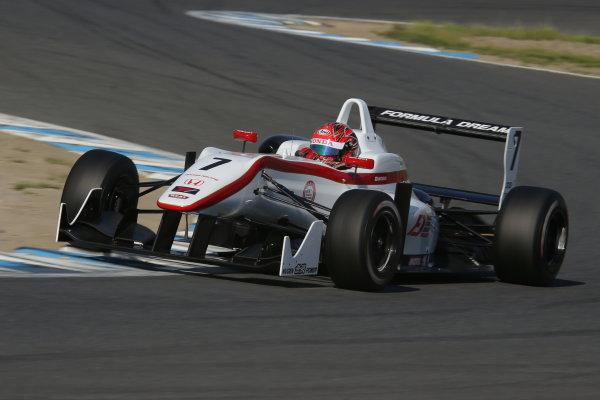 2014 All-Japan F3 Championship Motegi, Japan. 10th - 11th May 2014. Rd 2. Race 3. Winner Nobuharu Matsushita ( #7 HFDP RACING ) action. World Copyright: Yasushi Ishihara / LAT Photographic. Ref: 2014JF3_Rd3-5_021.JPG