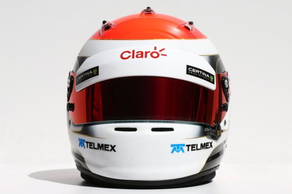 Albert Park, Melbourne, Australia. Thursday 13 March 2014. The helmet of Adrian Sutil (GER) Sauber. World Copyright: xpb Images/LAT Photographic. ref: Digital Image 2014helmets25