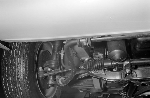 Ford Mustang Mach one front suspension.