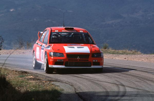 2001 FIA World Rally ChampsRallye de France, Ajaccio, Corsica, 18th-21st October 2001.Tommi Makinen in the Mitsubishi, action.World Copyright: LAT Photographic/McKlein.ref: 35mm Image A16