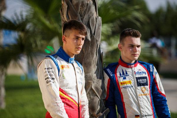 Leonardo Pulcini (ITA, Campos Racing), David Beckmann (DEU, Trident)