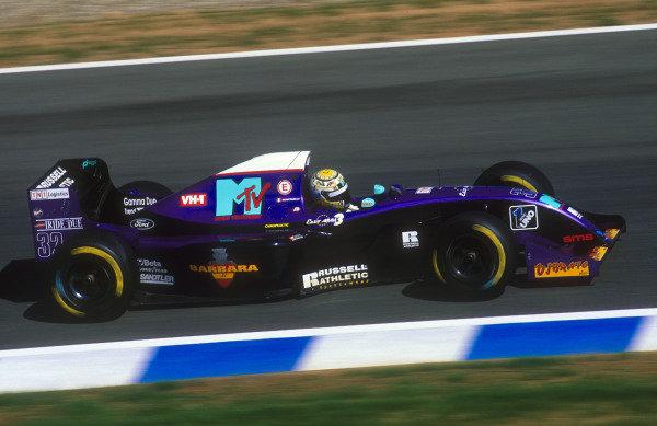 1994 European Grand Prix.Jerez, Spain.14-16 October 1994.Domenico Schiattarella (Simtek S941 Ford) 19th position on his Grand Prix debut.Ref-94 EUR 01.World Copyright - LAT Photographic
