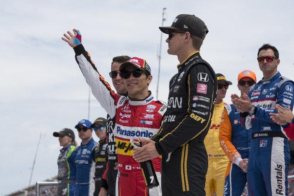 Takuma Sato, Rahal Letterman Lanigan Racing Honda, during driver introductions