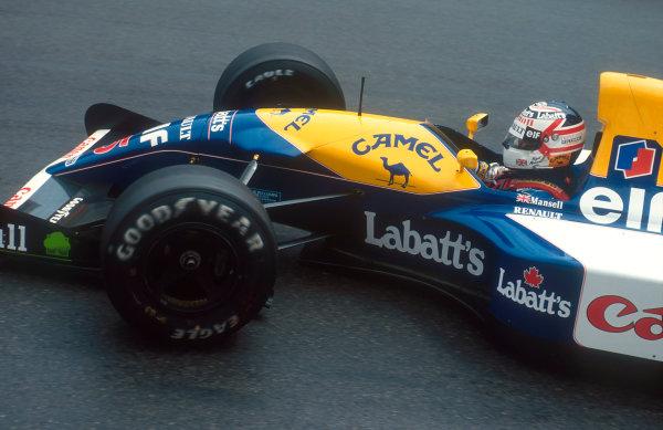 1992 Monaco Grand Prix.Monte Carlo, Monaco.28-31 May 1992.Nigel Mansell (Williams FW14B Renault) 2nd position.Ref-92 MON 32.World Copyright - LAT Photographic