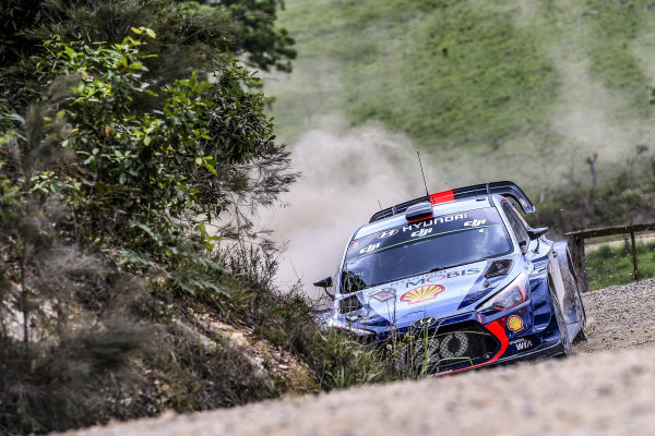 Thierry Neuville (BEL) / Nicolas Gilsoul (BEL), Hyundai Motorsport i20 Coupe WRC at World Rally Championship, Rd13, Rally Australia, Day Three, Coffs Harbour, New South Wales, Australia, 19 November 2017.
