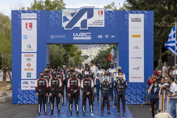 2021 FIA World Rally Championship drivers at the Acropolis Rally, Athens, Greece