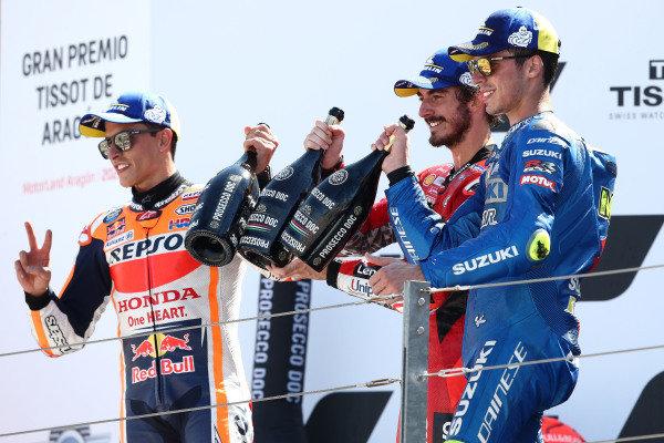 Marc Marquez, Repsol Honda Team Francesco Bagnaia, Ducati Team, Joan Mir, Team Suzuki MotoGP.