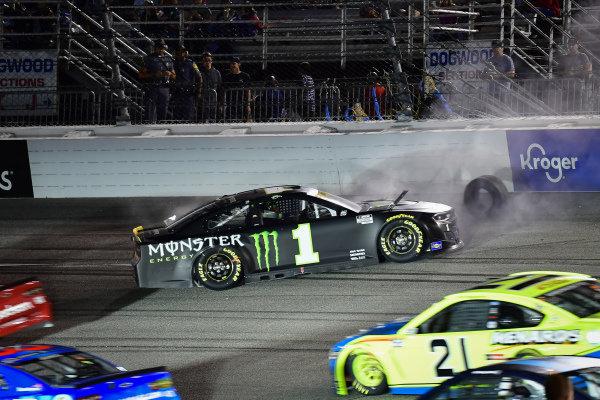 #1: Kurt Busch, Chip Ganassi Racing, Chevrolet Camaro Monster Energy crashes