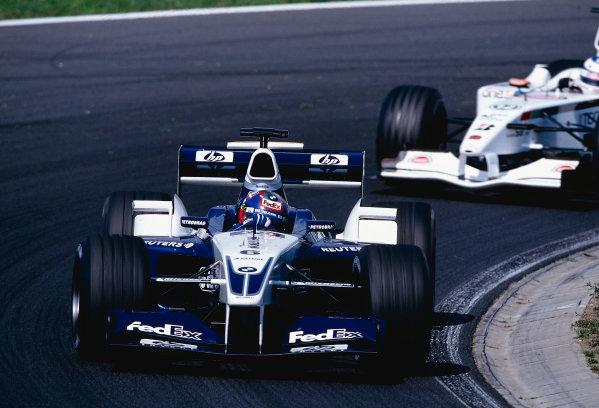 2002 Hungarian Grand Prix.Hungaroring, Budapest, Hungary. 16-18 August 2002.Juan-Pablo Montoya, BMW Williams FW24, 11th position. Ref-02 HUN 21.World Copyright - Rose/LAT Photographic