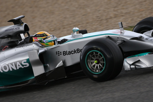 Lewis Hamilton (GBR) Mercedes AMG F1 W05. Formula One Testing, Jerez, Spain, Day One, Tuesday 28 January 2014.