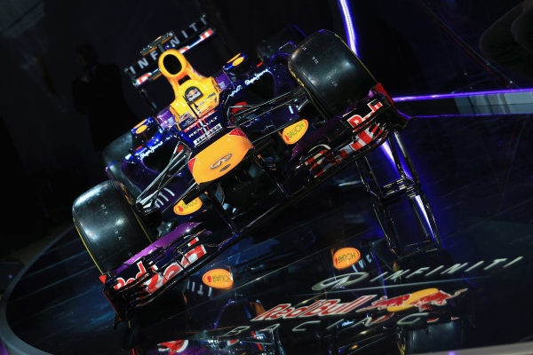 Milton Keynes, UK   The new Infiniti Red Bull Racing RB9 at the Photo: Richard Heathcote/Getty Images/Red Bull Racing () ref: Digital Image 160597150_10