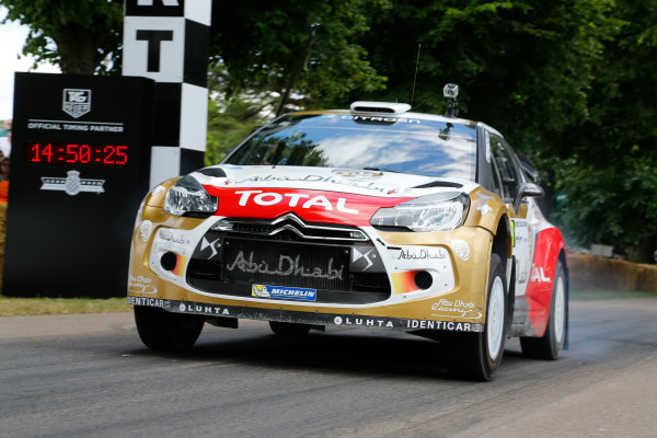 2014 Goodwood Festival of Speed  Goodwood Estate, West Sussex, England. 26th - 29th June 2014.  Sunday 29 June 2014. Citroen DS3 WRC World Copyright: Adam Warner/LAT Photographic. ref: Digital Image _L5R7427
