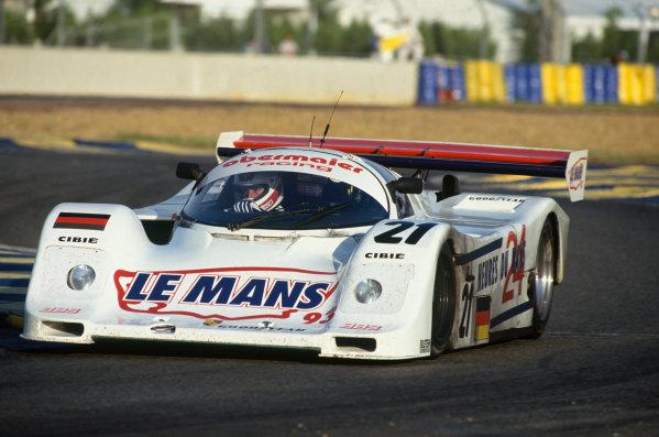 Le Mans, France. 19th - 20th June 1993. Otto Altenbach/Jurgen Oppermann/Loris Kessel (Porsche 962C), 7th position, action.  World Copyright: LAT Photographic. Ref:  93LM20