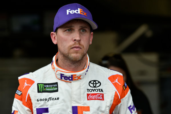 Monster Energy NASCAR Cup Series First Data 500 Martinsville Speedway, Martinsville VA USA Saturday 28 October 2017 Denny Hamlin, Joe Gibbs Racing, FedEx Walgreens Toyota Camry World Copyright: Scott R LePage LAT Images ref: Digital Image lepage-171028-mart-3802