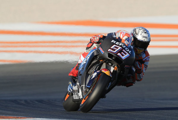 2017 MotoGP Championship - Valencia test, Spain. Tuesday 14 November 2017 Marc Marquez, Repsol Honda Team World Copyright: Gold and Goose / LAT Images ref: Digital Image 706885
