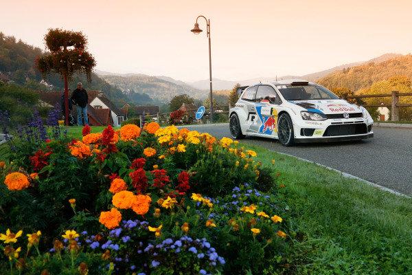 Jari-Matti Latvala (FIN) / Mikka Anttila (FIN), Volkswagen Polo R WRC. FIA World Rally Championship, Rd11, Rallye De France, Strasbourg, Alsace, France. Day Two, Saturday 4 October 2014.