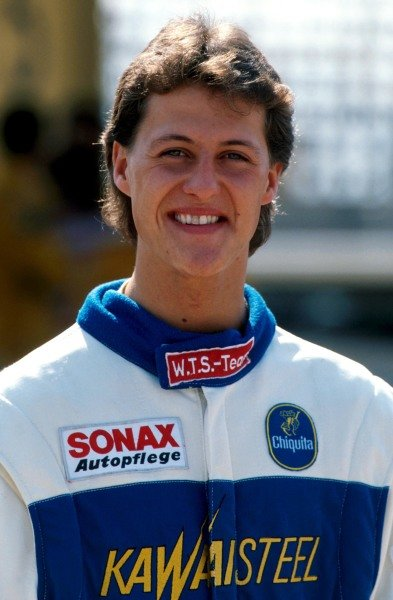 Overall race winner Michael Schumacher (GER). International Formula Three, Macau Grand Prix, 25 November 1990.