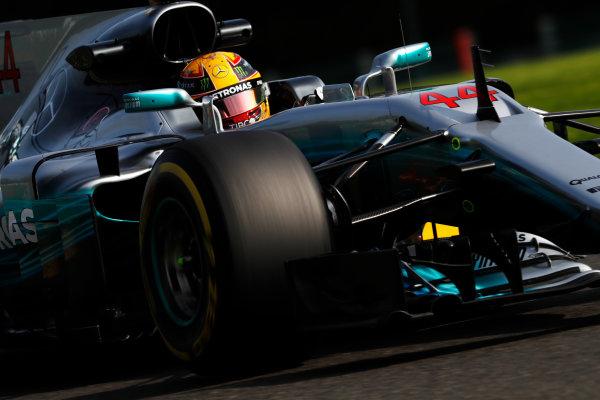 Spa Francorchamps, Belgium.  Friday 25 August 2017. Lewis Hamilton, Mercedes F1 W08 EQ Power+.  World Copyright: Glenn Dunbar/LAT Images  ref: Digital Image _X4I4981