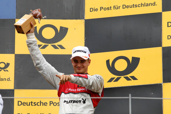2017 DTM Round 8  Red Bull Ring, Spielberg, Austria  Sunday 24 September 2017. Podium: third place Nico Müller, Audi Sport Team Abt Sportsline, Audi RS 5 DTM  World Copyright: Alexander Trienitz/LAT Images ref: Digital Image 2017-DTM-RBR-AT3-2758
