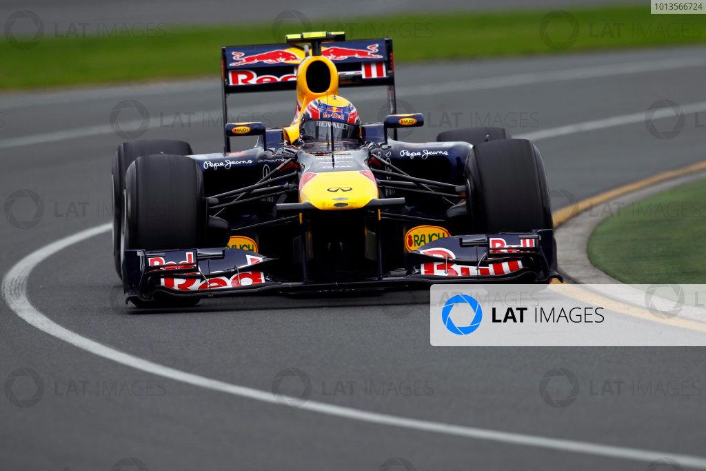 Albert Park, Melbourne, Australia 25th March 2011. Mark Webber, Red Bull Racing RB7 Renault. Action.  World Copyright: Andrew Ferraro/LAT Photographic ref: Digital Image _Q0C8287
