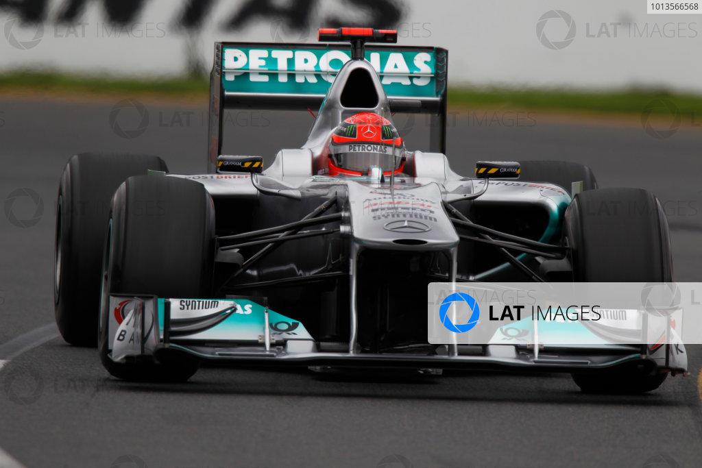 Albert Park, Melbourne, Australia 25th March 2011. Michael Schumacher, Mercedes GP W02. Action.  World Copyright: Andrew Ferraro/LAT Photographic ref: Digital Image _Q0C8151