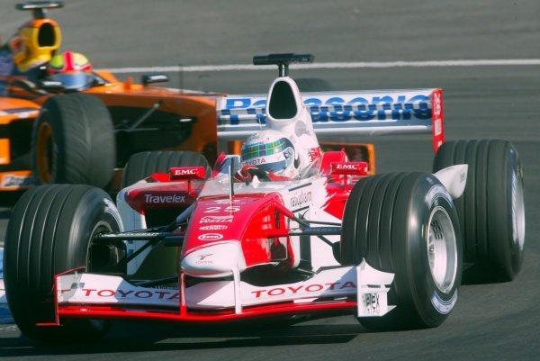 Allan McNish (GBR) Toyota TF102.German Grand Prix, Hockenheim, Germany, 28 July 2002.DIGITAL IMAGE