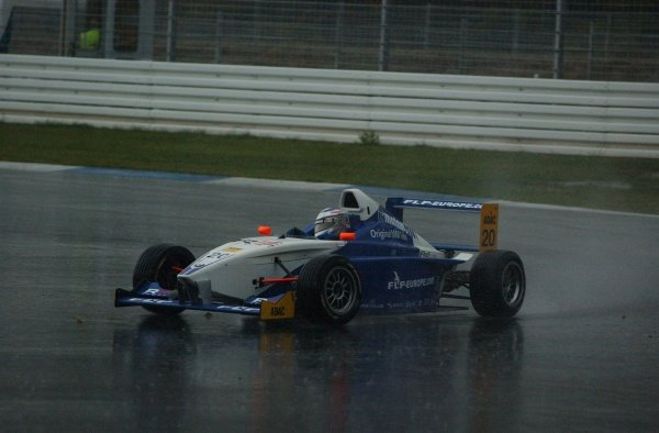 Formula BMW ADAC Championship 2002, Round 20 - Hockenheimring, Germany, 6 October 2002 - Maro Engel (Eifelland racing) finished 2nd in the Sunray race which was held under extreme wet conditions.