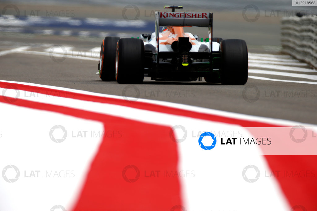 Bahrain International Circuit, Sakhir, Bahrain Friday 19th April 2013 Adrian Sutil, Force India VJM06 Mercedes.  World Copyright: Glenn Dunbar/LAT Photographic ref: Digital Image _89P0062