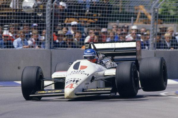 1986 Australian Grand PrixAdelaide, Australia. 24th - 26th October.Philippe Streiff (Tyrrell 014 Renault). Action.World Copyright: LAT Photographicref: 86 AUS 44