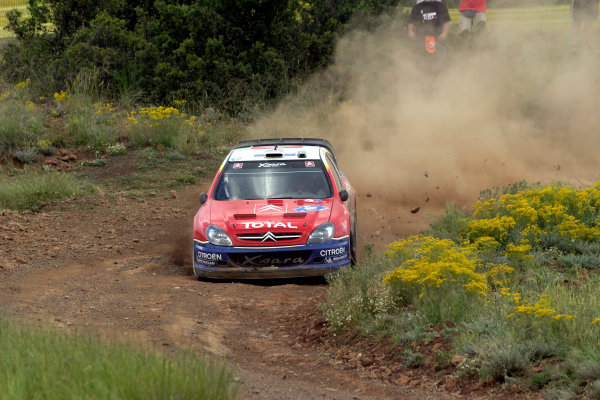 2004 FIA World Rally Champs. Round six, Acropolis Rally.3rd-6th June 2004.Sebastien Loeb, Citroen, action.World Copyright: McKlein/LAT