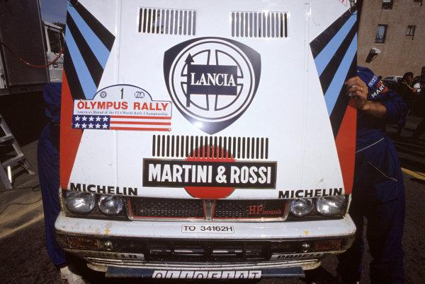 1988 World Rally ChampionshipOlympus Rally, USA. 23rd - 26th June 1988.Biasion/Siviero (Lancia Delta HF Integrale).World Copyright: LAT Photographicref: 35mm Transparency Image.