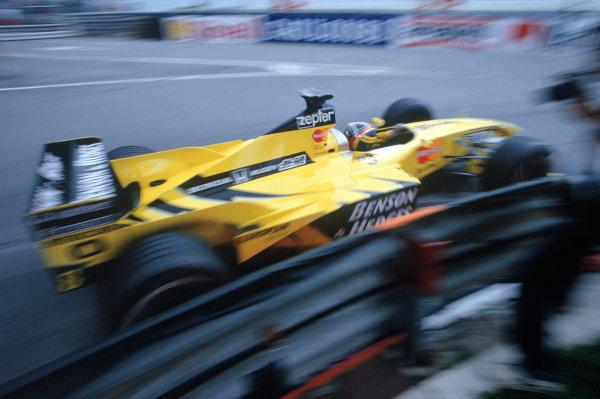 Monte Carlo, Monaco. 13th - 16th May 1999. Rd 4. Heinz Harald Frentzen (Jordan Mugen Honda). Action. World Copyright:Steven Tee/LAT Photographic.Ref:35mm Image 99 MON 33