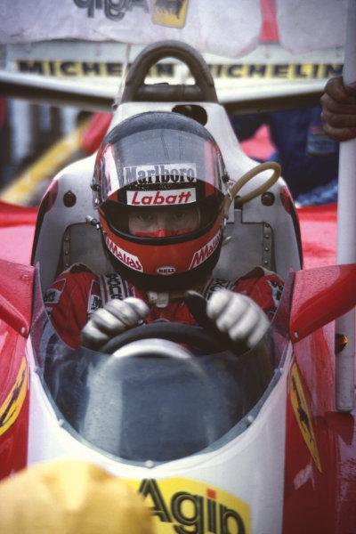 Montreal, Quebec, Canada. 6 - 8 October 1978.Gilles Villeneuve (Ferrari 312T3) 1st position, for his maiden Grand Prix win, portrait. World Copyright: LAT Photographic.Ref: 78CAN29
